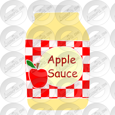 applesauce stencil for classroom therapy use great applesauce rh lessonpix com Apple Butter Clip Art applesauce clipart free