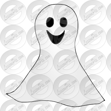 Happy Ghost Picture for Classroom  Therapy Use  Great Happy