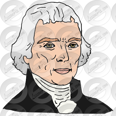 thomas jefferson picture for classroom therapy use great thomas rh lessonpix com James Monroe Clip Art Theodore Roosevelt Clip Art