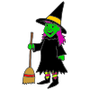 witch with a broom Picture