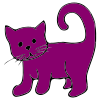 Purple+Cat Picture