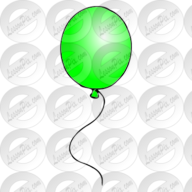 Green Balloon Picture for Classroom / Therapy Use - Great Green ...