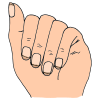 how to draw a fingernail