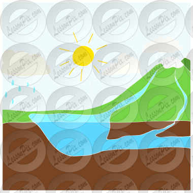 water cycle stencil for classroom therapy use great water rh lessonpix com water cycle pictures clipart water cycle clipart