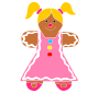 Gingerbread Girl Stencil