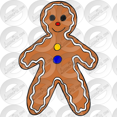 Gingerbread man picture for classroom therapy use great gingerbread man picture voltagebd Image collections