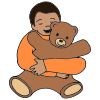 He+is+hugging. Picture