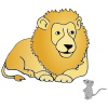 Lion+and+Mouse+are+friends. Picture