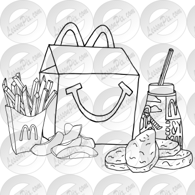 happy meal coloring pages | Happy Meal Clip Art – Cliparts