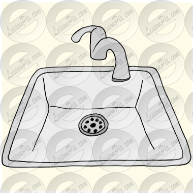 Sink Picture for Classroom / Therapy Use - Great Sink Clipart