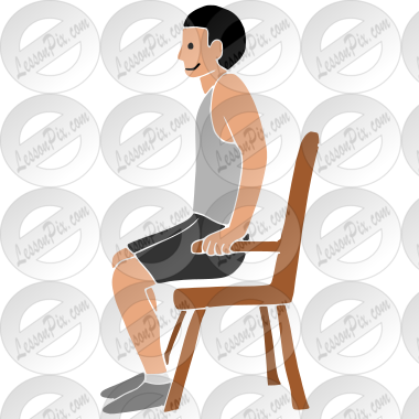 Chair Push Ups Stencil For Classroom Therapy Use Great
