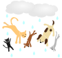 Raining Cats and Dogs Stencil