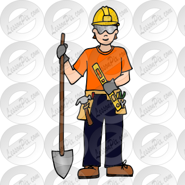 Construction Worker Picture for Classroom / Therapy Use - Great ...