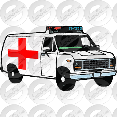 Ambulance Picture for Classroom / Therapy Use - Great Ambulance ... | {Ambulance clipart 79}