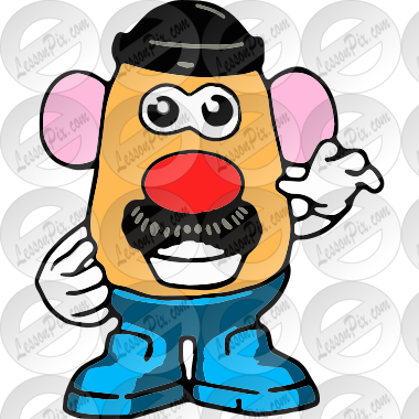mr potato head picture for classroom therapy use great mr potato rh lessonpix com mr potato head clip art free mr potato head clipart free