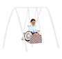 Wheelchair Swing Stencil