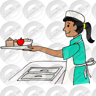 Lunch Lady Picture for Classroom / Therapy Use - Great ... Empty Food Tray Clipart