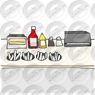 Condiments Station Picture