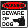 warning beware of dog Picture