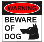 Beware of Dog Stencil