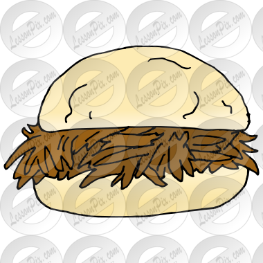 Pulled Pork Sandwich Picture for Classroom / Therapy Use ...