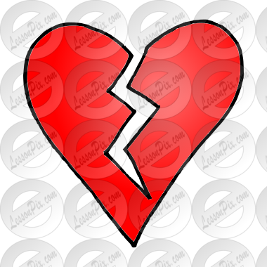 Broken Heart Picture for Classroom / Therapy Use - Great Broken ...