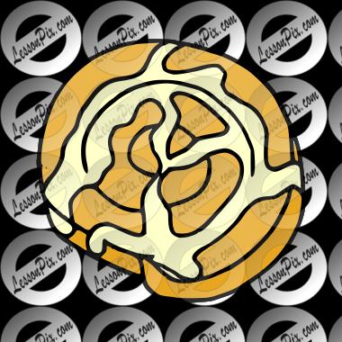 cinnamon roll picture for classroom therapy use great cinnamon rh lessonpix com  cinnamon bun clipart