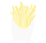 French Fries Stencil
