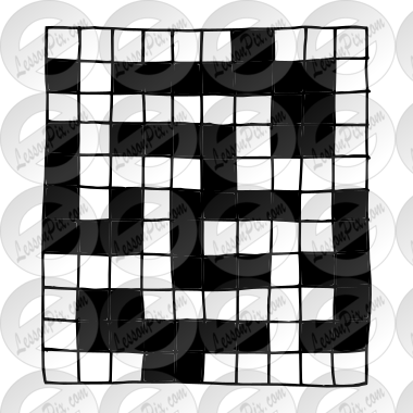 Crossword Puzzle Outline For Classroom Therapy Use