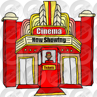 Cinema clipart  Cinema Picture for Classroom / Therapy Use - Great Cinema Clipart