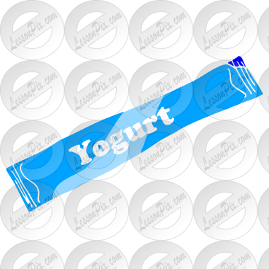 Yogurt Tube Stencil