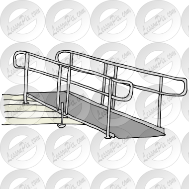 Ramp Picture for Classroom / Therapy Use - Great Ramp Clipart