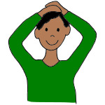 Touch Your Head Clipart