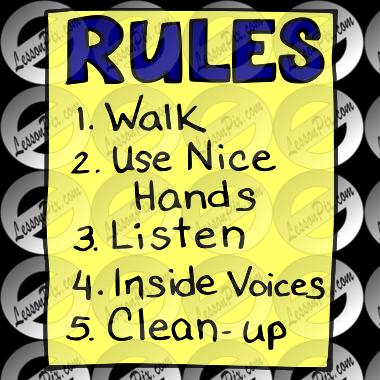 Classroom Pre-school Clip Art - Class - Rules Clipart Transparent PNG