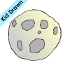The moon is a rock that moves around the Earth Picture