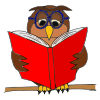 owl reading Picture