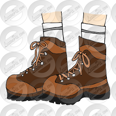 Hiking Boots Picture For Classroom Therapy Use Great Hiking