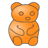 Orange Bear Picture