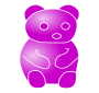Purple Bear Stencil