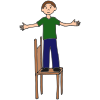 Stand on Chair Picture