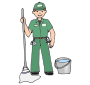 Custodian picture for classroom therapy use great custodian