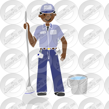 Custodian stencil for classroom therapy use great custodian