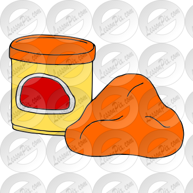 Clay Picture for Classroom / Therapy Use - Great Clay Clipart Register Here Button Orange