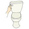 I+use+the+bathroom+in+the+toilet+and+flush. Picture