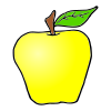 1 Yellow Apple Picture