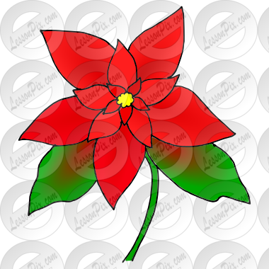 Clip Art Poinsettia Clip Art poinsettia picture for classroom therapy use great picture