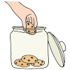 hand in cookie jar Picture