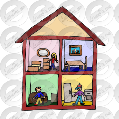 Dollhouse Picture For Classroom Therapy Use Great Dollhouse Clipart
