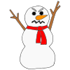 Angry Snowman Picture