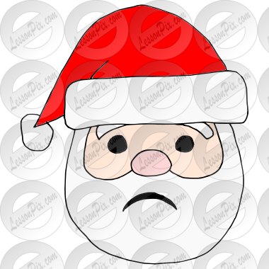 Sad Santa Picture for Classroom / Therapy Use - Great Sad ...